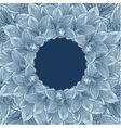 Blue orchid flower frame vector image vector image