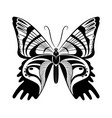 butterfly black white silhouette design vector image vector image