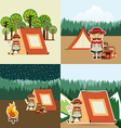 camping adventure vector image vector image