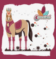 carnival horse vintage icon vector image vector image