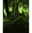 cartoon background dense forest green vector image vector image