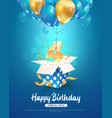 celebrating 4th years birthday 3d vector image