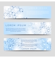 Chemical banners with molecular ctructure vector image