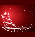 christmas red background with blizzard and stars vector image vector image