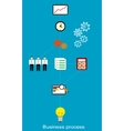 Conceptual business process vector image vector image