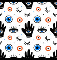 decorative eyes icons evil eyes pattern vector image vector image