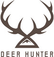 deer horns design templatehunting vector image