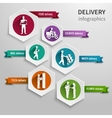 Delivery infographic set vector image vector image
