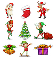 different christmas designs vector image vector image