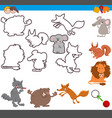 educational activity with cute animals vector image vector image