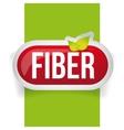 Fiber in Foods button vector image vector image