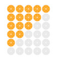 five oranges rating icon evaluation of the hotel vector image