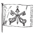 flag of the papal states 1881 vintage vector image vector image