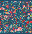 floral seamless pattern with beautiful blooming vector image