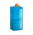 glass blue bottle mockup realistic style vector image vector image
