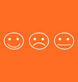hand drawn smiley icon emotion face in flat style vector image vector image