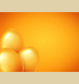 happy easter banner background template with vector image