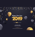 happy new year 2019 sale abstract background vector image