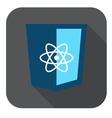 icon blue web shield js framework vector image