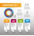 infographic business strategy success plan vector image vector image