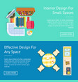 interior design small spaces vector image