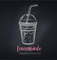 lemonade icon chalkboard poster vector image vector image