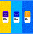 line car service package labels vector image