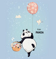 little panda with balloon vector image