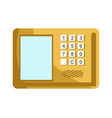 lock with numeric panel to enter password and vector image vector image