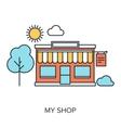 My Shop vector image vector image