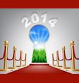 new year door keyhole 2014 vector image vector image
