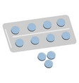 package of pills vector image