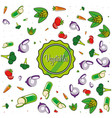 pattern of delicious vegetables vector image