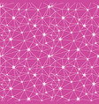 pink white stars network seamless pattern vector image