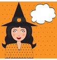 Pop Art Beautiful Witch vector image