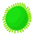 Round bacteria icon cartoon style vector image vector image