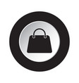 round black and white button - handbag bag icon vector image