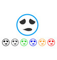 sad emoticon smile rounded icon vector image