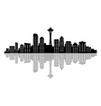 seattle skyline vector image vector image
