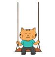 set of cat swing vector image