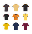 set of colored sport t-shirts vector image vector image