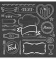 Set of ribbons frames for restaurant menu vector image