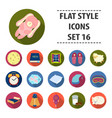 sleep and rest set icons in flat style big vector image vector image