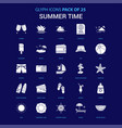 summer time white icon over blue background 25 vector image