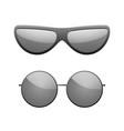 sunglasses icons set black silhouette sun glasses vector image vector image