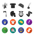 theatrical binoculars a helmet a harp and a vector image vector image
