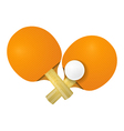Two racket for table tennis on a white background vector image vector image