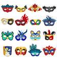 venetian carnival masks set vector image vector image
