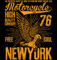 vintage motorcycle poster t shirt graphic design vector image