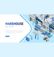 webpage warehouse delivery information vector image vector image